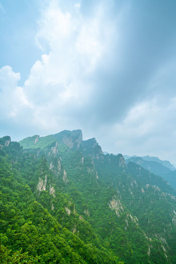 The mountain in the scenic area of the old boundary of nanyang. Cloudy Green Henan Nanyang Nature Nature Reserve The Clouds Trees Clouds Environmental Proteccccc Forest Gorgeous Green Trees Landscape Laojieling Mountain Mountains No One Outdoors Scenic Area Sky The Scenic Area Virgin Forests