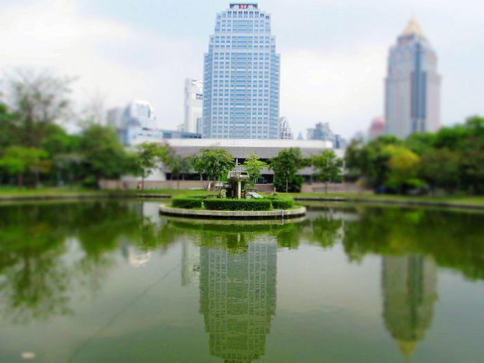 Goodmorning Bangkok, Lumphini Park Veiw , Relaxing Thailand_allshots Silhouettes Of A City. Enjoying Life Taking Photos .