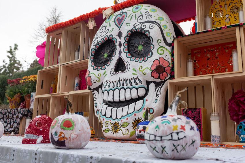 Holiday Outdoors Diademuertos Pumpkins Decorations