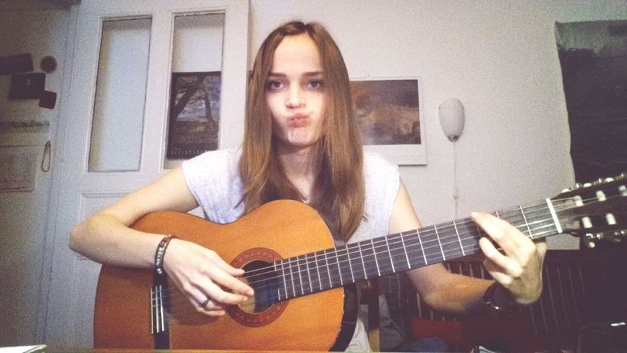 Beautiful Me Imsuchamodel Playing Guitar