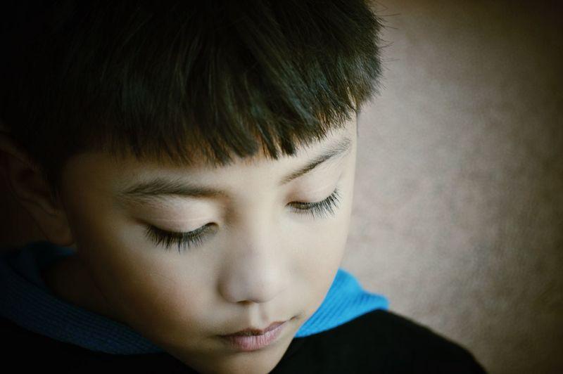 Blue Baby Child Boy Blue Silent Kid