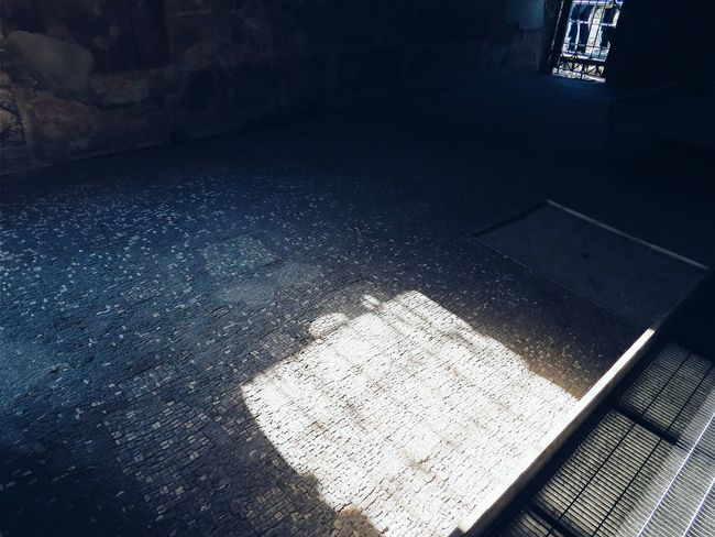Light Light Light And Shadow Indoors  Mosaic Pompeii  Pompeii Ruins House Dark Tranquility The Week On Eyem EyeEm Gallery EyeEm Best Shots EyeEmBestPics Eye4photography