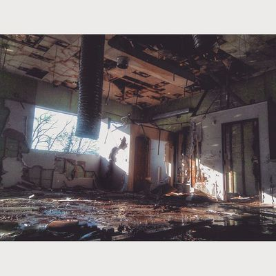 Good morning Flintstagram Flint 810 Abandoned officespace slumerican grime decay decayporn