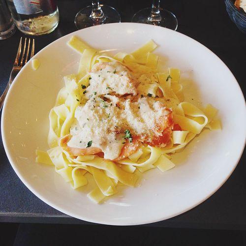 Food Tagliatelles Pasta Salmone Restaurant