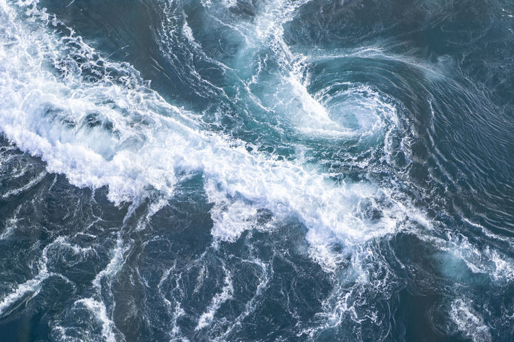 Sea Water Wave Motion Beauty In Nature Nature Backgrounds Full Frame No People Blue Outdoors Wave Pattern Pattern Textured  Power In Nature Textured Effect Whirlpool View From Above