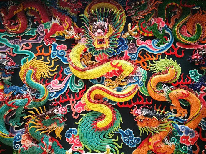 Cultures Tradition Dragon Multi Colored Celebration Traditional Clothing Outdoors No People Chinese Dragon Astrology Sign Day