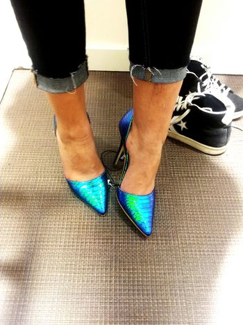 High Heels La Petite Sirene My New Shoes Blue Green  Prismacolor Colorful Color Photography GoodFellas IMP At Pitti Uomo 86