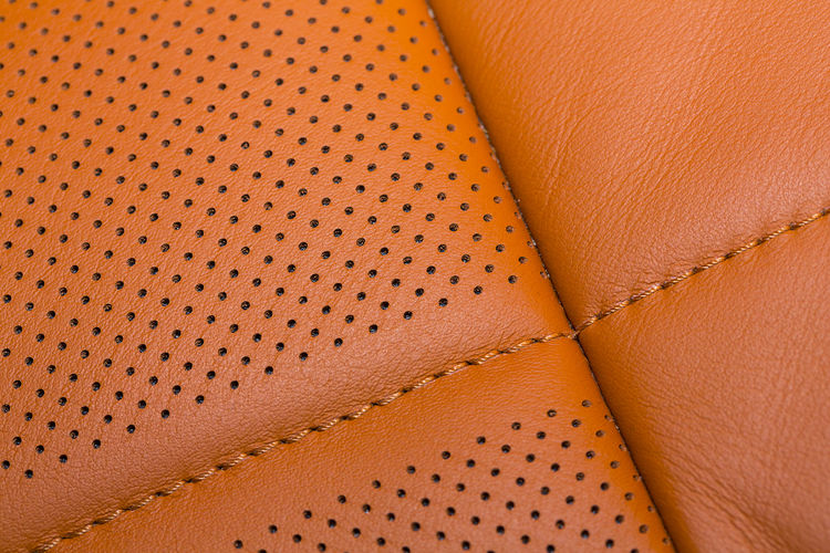 Full frame shot of leather seat