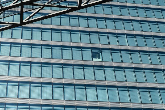 The Architect - 2018 EyeEm Awards Modern Architecture Jalousie Window Jalousie Architecture Built Structure Building Exterior Modern Building Low Angle View Office Building Exterior Office Glass - Material City Day No People Full Frame Window Pattern Reflection Outdoors Blue Backgrounds