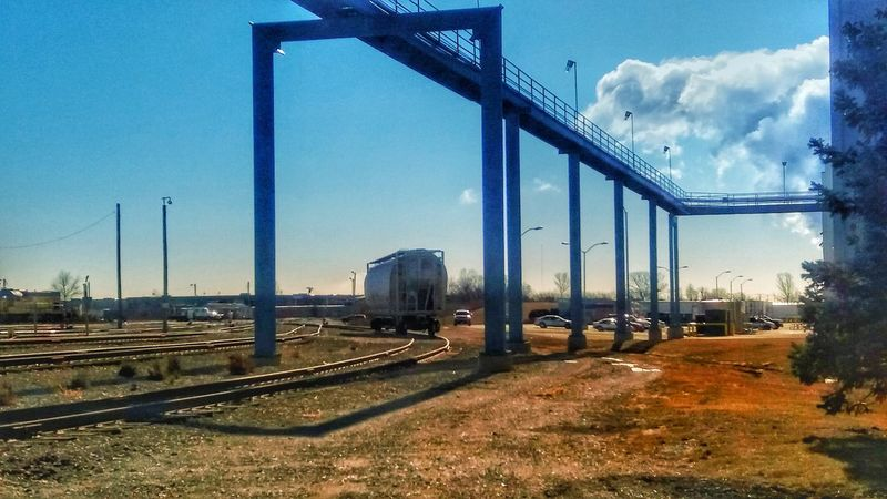 Railcar Railroad Track Wow That's So Cool !! WOW Sky And Clouds Beautiful Sky Business Finance And Industry Cloud - Sky Industry No People Built Structure Outdoors Architecture Day Factory City