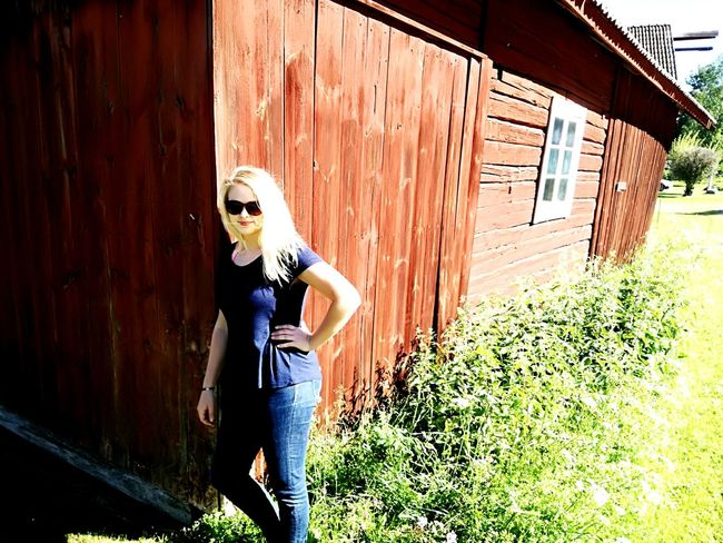 Hello World Blond Hair One Woman Only Blond Hair Swedish Girl Young Adult Barn Beautiful People Standing Summergirl  EyeEmNewHere Attitude Done That. Swedish Summer Be. Ready. EyeEm Ready   AI Now Real People Love Yourself