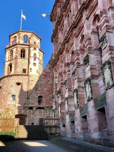Schlosshof Schloss Heidelberg Architecture Built Structure Building Exterior Building The Past History City