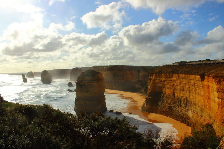 12 Apostel 12 Apostles Australia Australian Landscape Beauty In Nature Cliff Coastline Coastline Landscape Day Great Ocean Road Great Ocean Road, Australia Landscape Nature No People Ocean Outdoors Rock - Object Rock Formation Sky Sunset Tranquility Water The Great Outdoors - 2017 EyeEm Awards Been There.