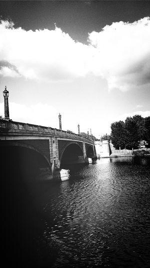 Hampton Court Bridge River Thames Richmond -upon-thames, London Blackandwhite Photography