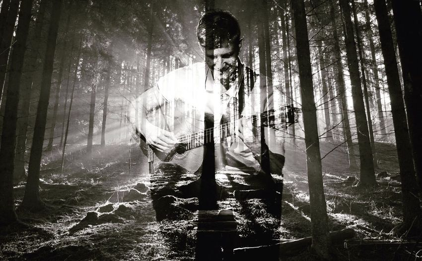 Being a musician changes the view on everything Music Guitar First Eyeem Photo Forest Combined Photoshop