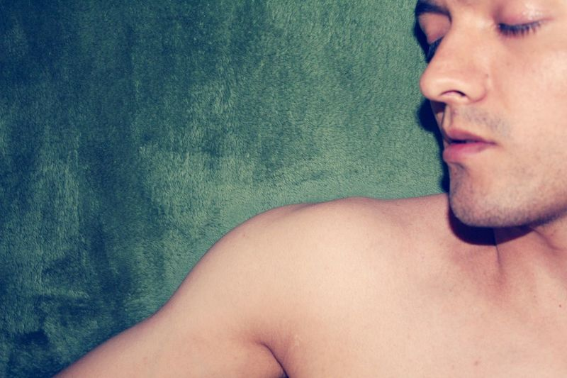Sleep Alone: Nakedhuman Shirtless Skin Sleeping Relaxing Time