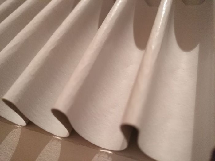 Textile Curtain Crumpled Close-up Folded Luxury No People Beauty Backgrounds Day No Filters Or Effects Paper Detail White Color Waves Paper Waves