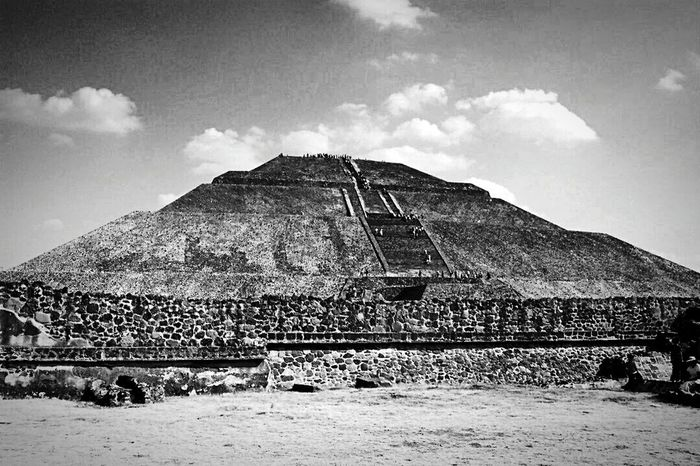 Teotihuacan Piramide Del Sol Enjoying Life Epl5 Monochrome Black & White Breathtaking Sightseeing