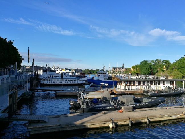 Stockholm Sweden Stockholm View Waterfront City Capital Nautical Vessel Water Outdoors Moored Travel Destinations Day Nature City Travel Travel Photography Sunny Afternoon Boats And Water Transportation P9 Sky Mode Of Transport Boats Sweden Summer City Photography