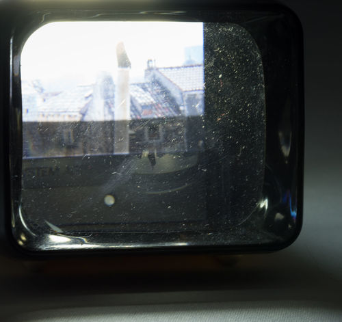 Slide viewer with slide, function simulated with flashlight, because I haven't the right batteries available. Old Technology Close-up Day Glass - Material Indoors  Low Tech No People Reflection Slide Slide Viewer Slides Transparent