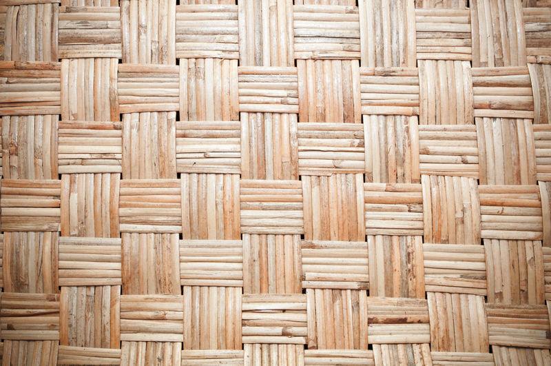 Full frame shot of wooden wicker basket