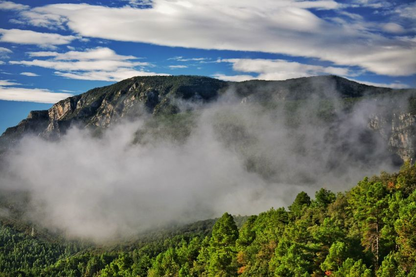 Mountain Clouds Mountain In The Clouds In The Mountains Cloudy Mountain Top Spanish Pyrenees Road Trip