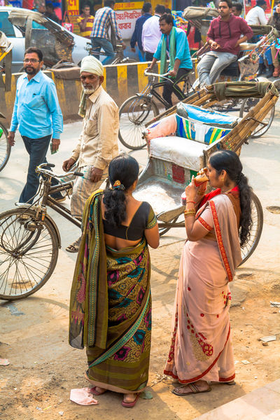 Adult ASIA Bicycle Crowd Day Drinking Full Length India Lifestyles Men Multitude Outdoors People Portrait Real People Rickshaw Saree Sitting Street Photography Tea Togetherness Women Young Adult The Street Photographer - 2017 EyeEm Awards The Photojournalist - 2017 EyeEm Awards