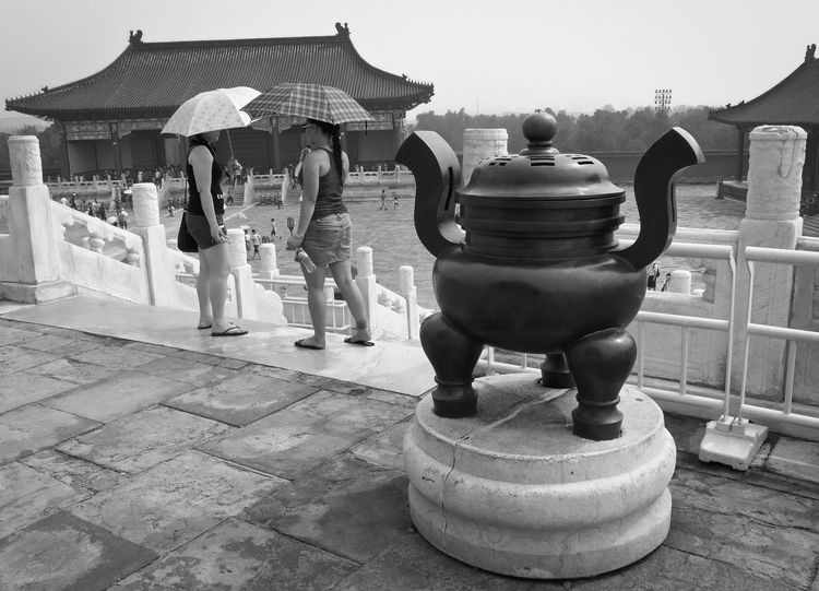 China Forbidden City Portrait Chinese People Watching Candid Photography People Blackandwhite Black And White Black&white Beijing, China People Talking Woman