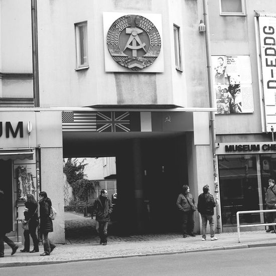 Checkpoint Charlie  West Berlin DDR Germany