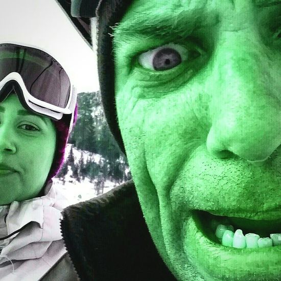 Having a little fun on the ski lift with my very best girl... First Eyeem Photo Skiing ❄ Snowboarding Running Springs, Ca Snow Valley
