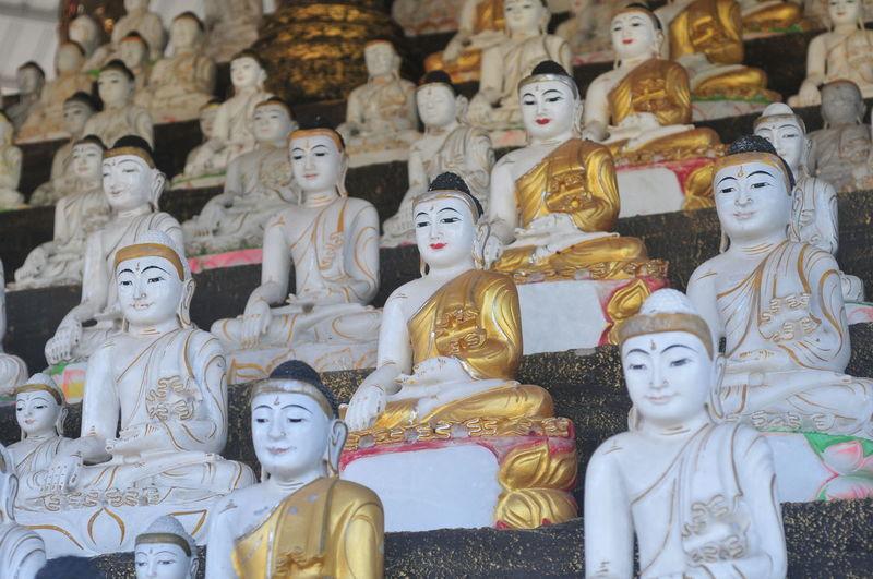 Statues against building