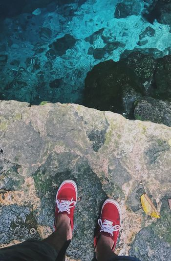Cenote de Cuzamá, Yucatán. Low Section Human Leg Body Part Human Body Part Shoe Personal Perspective Real People First Eyeem Photo My Best Travel Photo