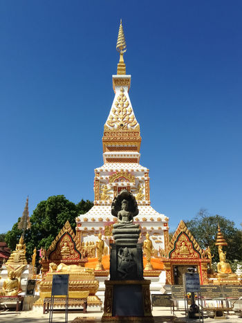 Architecture Budha Budha Statue Budha Temple Budhastatue Budhha Budhha Statue Budhism Budhisme Budhist Budhist Temple Clear Sky Outdoors Pagoda Pagoda Building Pagoda Temple Pagoda 😀 Pagodas Place Of Worship Religion Sky Thai Thai Temple Thailand Thailandtravel