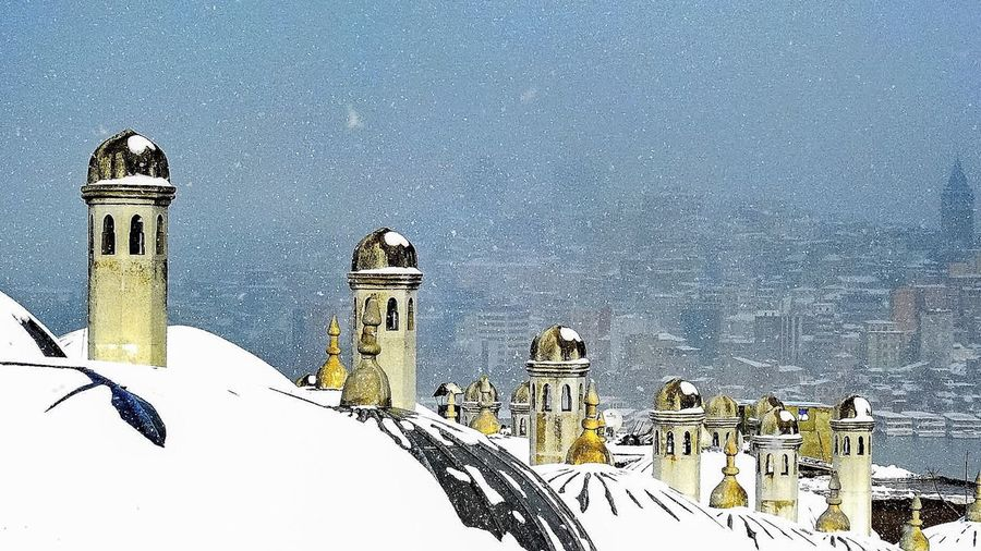 Süleymaniye Külliyesi Snow Winter Cold Temperature Religion Place Of Worship Architecture Spirituality No People Building Exterior Dome Sky Outdoors Nature Snowing Day Carnival Crowds And Details