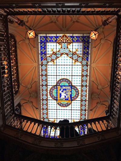 Architecture Stained Glass Built Structure Indoors  Window Design Glass Pattern Multi Colored Building Glass - Material No People Day Low Angle View Ornate Creativity Belief
