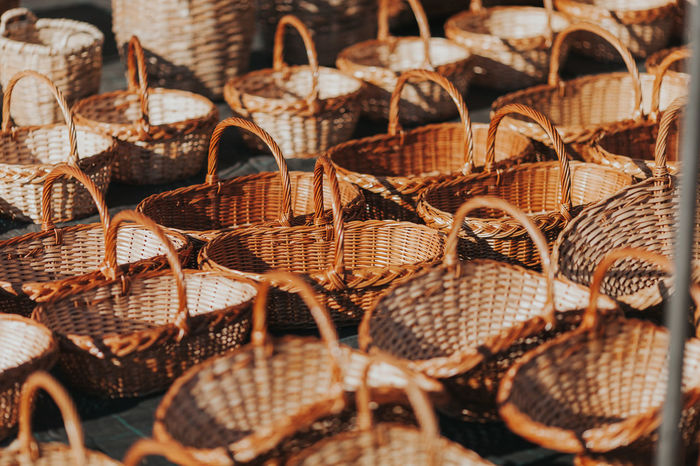 Portugal Whicker Wicker Wickerwork Abundance Basket Craft Craftwork Day Full Frame Large Group Of Objects Lawn Maket Portugal_lovers Whicker Wicker Basket