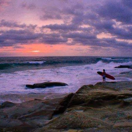 Windnsea Sunsets Surfing