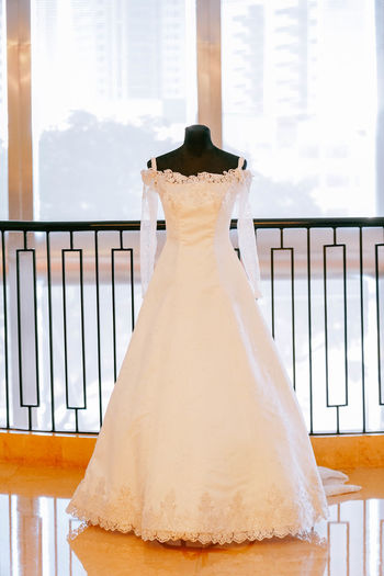 Wedding dress for sale in shop