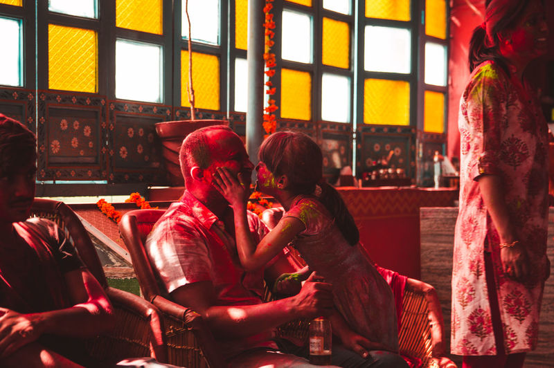 One of my favourite shots that I'm able to capture ❤️... Storytelling Parent Family Father Daughter Love Travel Exploring Jodhpur Rajasthan Indoors  Window Party Togetherness Men Human Hand City Red Friendship Sitting Women Holi Powder Paint Festival Indian Culture  Hinduism Face Powder Religious Celebration Traditional Festival Body Paint My Best Photo Exploring Fun The Photojournalist - 2019 EyeEm Awards The Traveler - 2019 EyeEm Awards