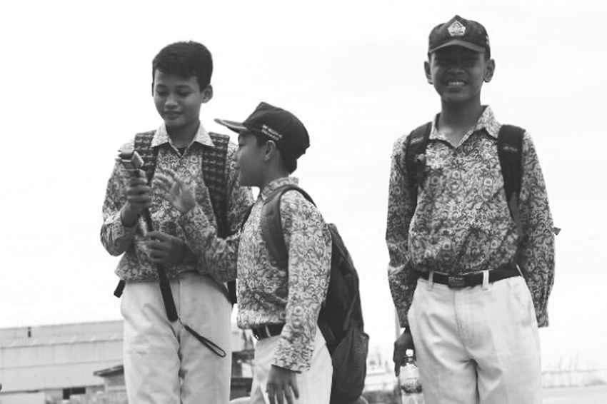 Friendship Hat Outdoors Portrait Togetherness Standing Travel People Blackwhite IndonesiaGraphy