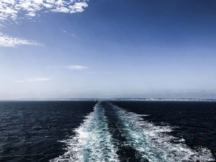 Sea Water Sky Horizon Over Water Scenics - Nature Beauty In Nature Horizon Outdoors Tranquil Scene Tranquility No People Idyllic Blue Waterfront Nature Nautical Vessel Day Non-urban Scene Transportation
