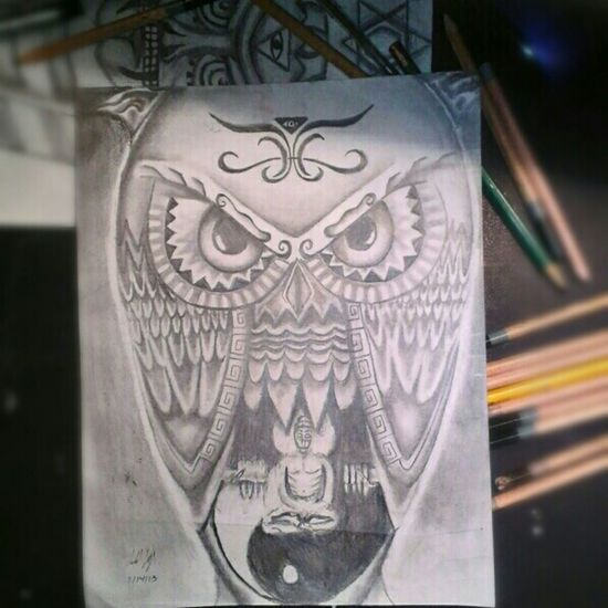 my dope owl drawing. Art Animal Space Enjoying Life Trippy Phsycedelic