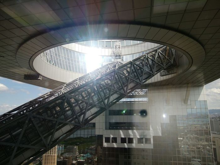 ski-building Skybuilding Umada OSAKA Umekita City Spiral Staircase Girder Bridge - Man Made Structure Architecture Built Structure Sky