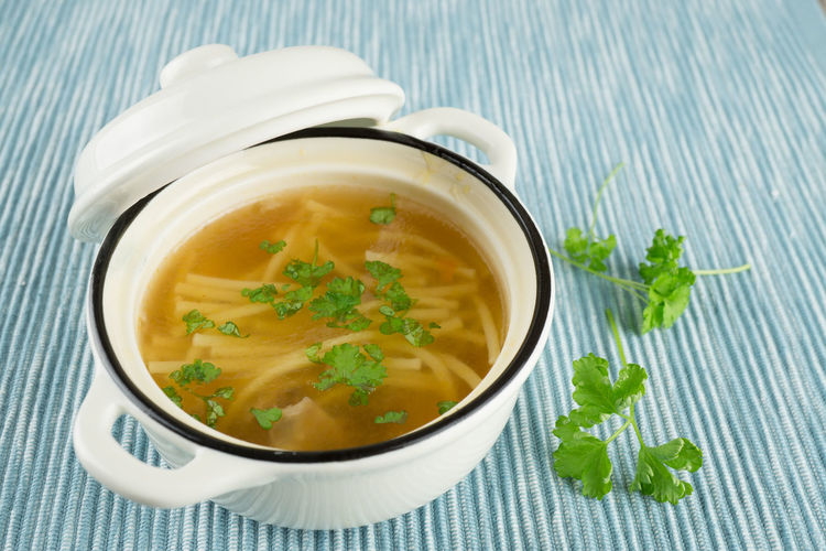 Bowl Bowling Broth Close-up Day Food Food And Drink Freshness Healthy Eating Indoors  Leaf Mint Leaf - Culinary No People Noddles Parsley Ready-to-eat Soup Table Vegetable Vegetable Soup