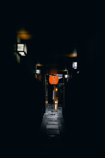 Small Alley Kyoto Ancient Architecture Lattern Light