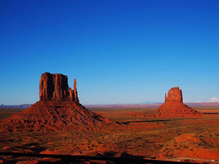Monument Valley Rock - Object Geology Rock Formation Nature Physical Geography Landscape Beauty In Nature Outdoors Desert No People Blue Sky
