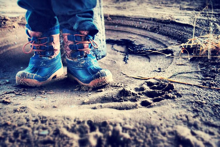 These boots were made for walking Stannes Lythamstannes Beach Photography My Photos