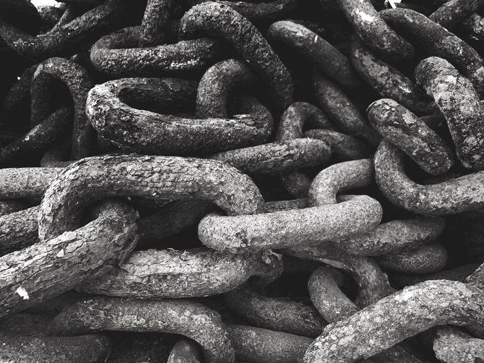 Full frame shot of metallic chain