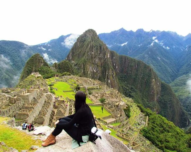 Mountain Rear View Beauty In Nature Travel Destinations Green Color Tranquil Scene Machu Picchu