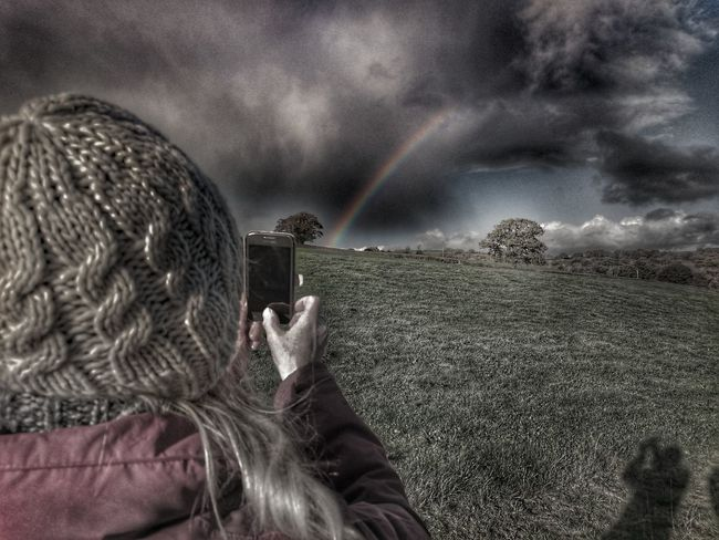 One Person Cloud - Sky Sky Rainbow🌈 Rainbow Rainbows Rainbow Sky RainyDays HDR Collection Nature_collection Landscape_collection EyeEmNatureLover Landscape Rainbow Colours Rainbowporn Wales❤ Rainbow Colors Woollyhat Woolly Natural Science Nature's Diversities Nature Colors Colour Explosion Rainbows End Rainy Days
